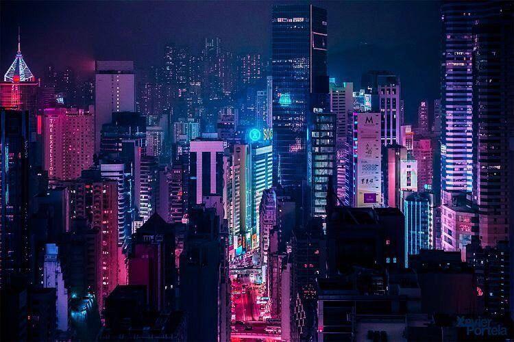 N I G H T L I F E City Aesthetic Landscape Concept Cyberpunk