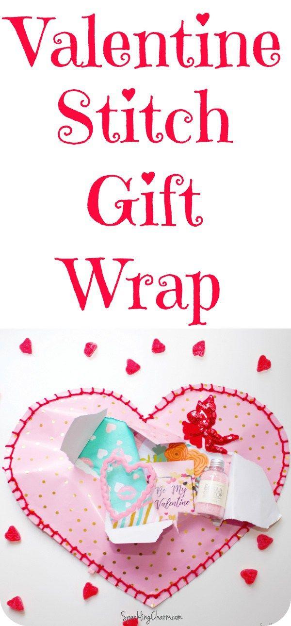 DIY Valentine Blanket Stitch Wrap!  #ValentinesDay #GalentinesDay #BlanketStitch #GiftGiving