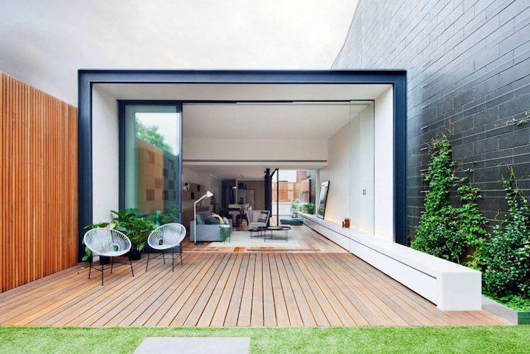 Moderne Terrasse moderne terrassen ideen terrassentüren terrassendielen holzdeck