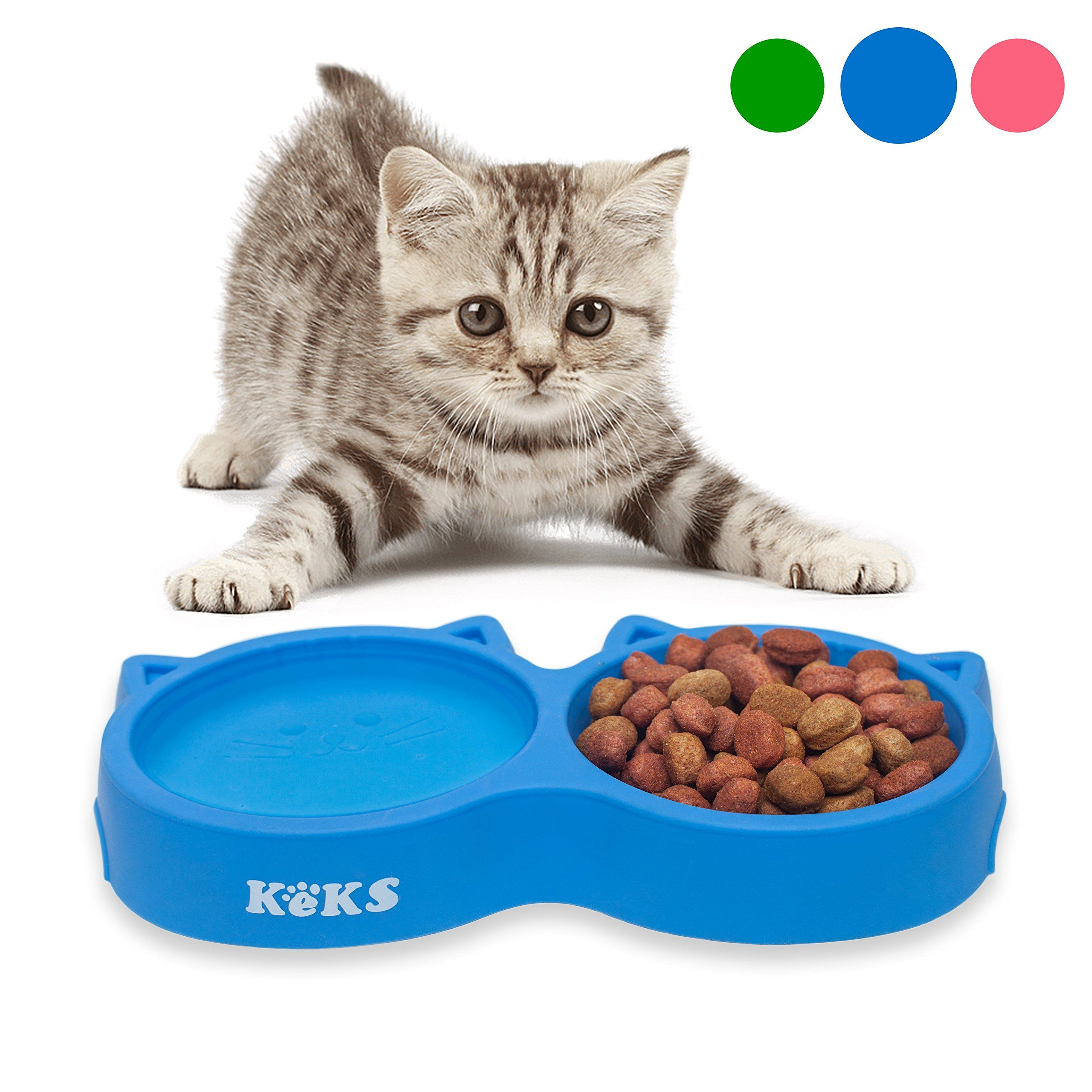 Cat Bowls Blue Cat Food Set Of Silicone Cat Feeder Stand And Pets Food Can Cover Cat Food Bowl Set Cat Dish Set Kitt Kitten Food Cat Water Bowl Cat Feeding