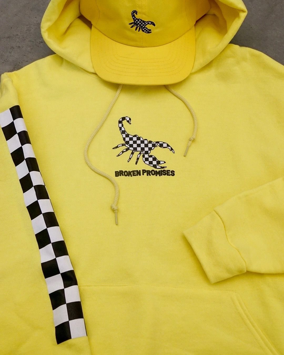 Broken promises 2 tone neon yellow hoodie yellow hoodie