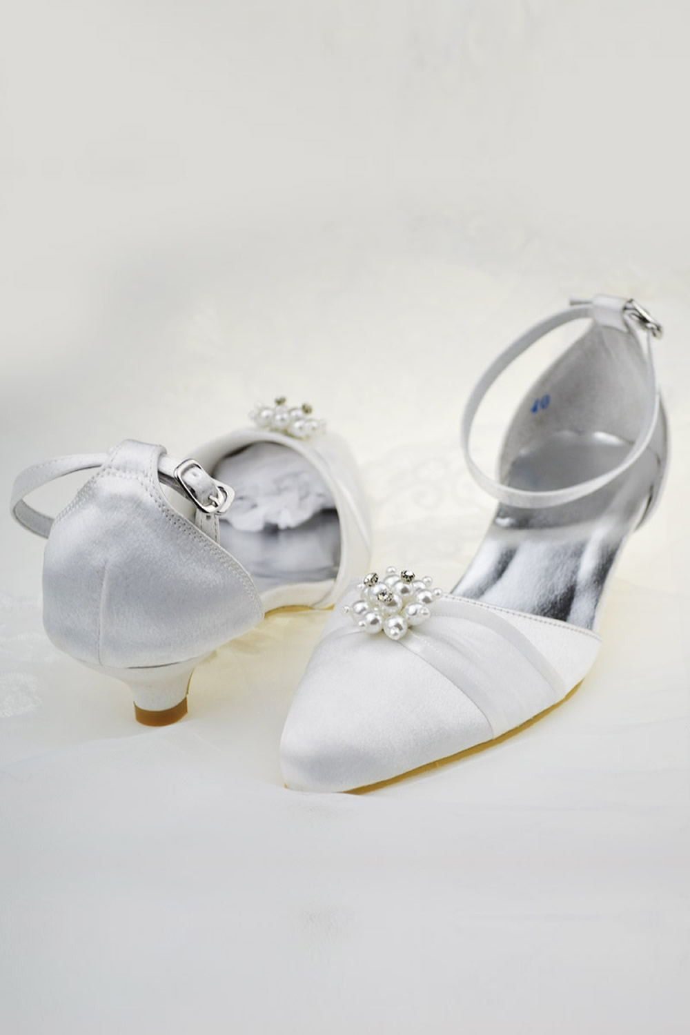 450eccd2d4b Simple Handmade Ankle Strap Low Heel Shoes With Beads S65