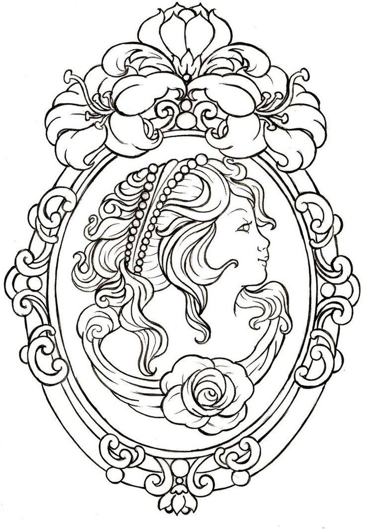 Cameo Tattoo by ~Metacharis on deviantART | Трафарет | Pinterest ...