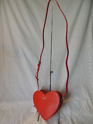 NWT Kate Spade Cherry Red Secret Admirer Heart Crossbody PXRU6373 in Clothing, Shoes & Accessories,Women's Handbags & Bags,Handbags & Purses | eBay