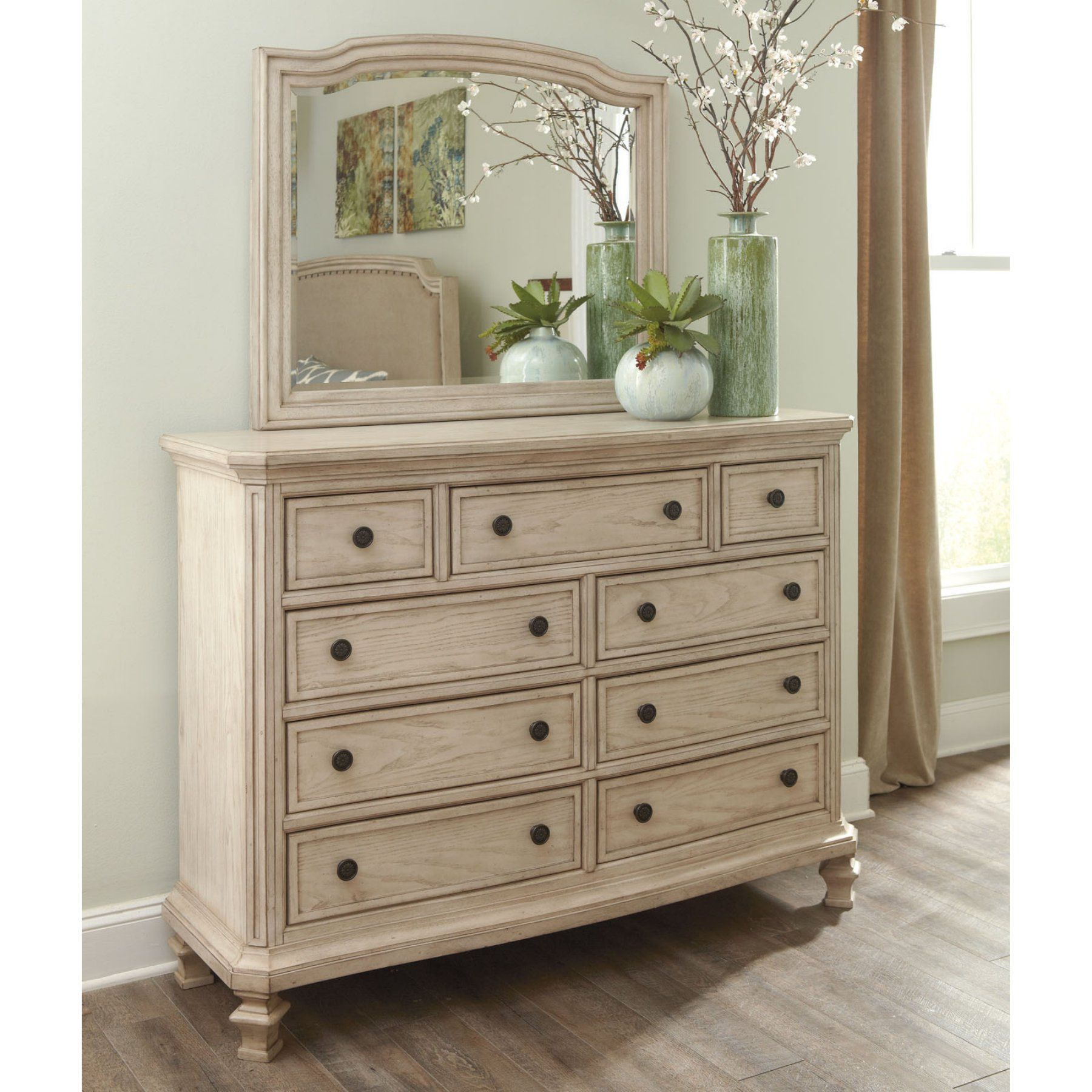 Signature Designashley Demarlos 9 Drawer Dresser With Optional Inspiration Ashley Bedroom Dressers Decorating Inspiration