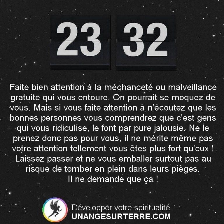 23h32 Heure Miroir