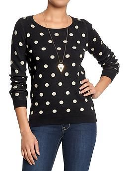 Womens Polka Dot Sweaters Blackwhite Dots At Old Navy Size Medium