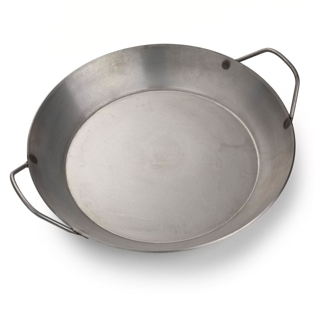 Turk, a German-based manufacturer established in 1857, has perfected the heavy steel, convenient double-handle pan. Use this on the stovetop, in the oven, on th