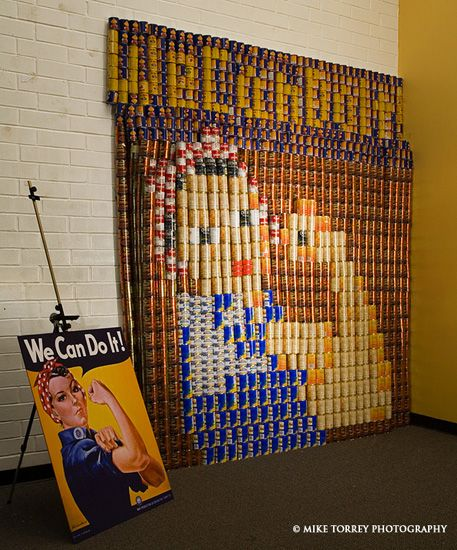 We Can Do It Canstruction San Diego Ca Food Pantry Food Drive Canned Food