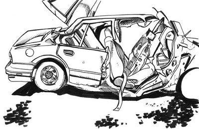 Joel Kimmel S Illustration News Car Drawings Fast Drawing Car Crash