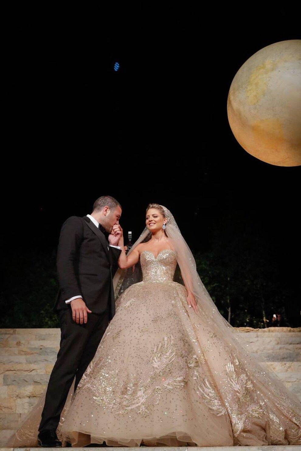Christina Mourad Married Elie Saab Jr The Son Of Lebanese Fashion Designer Elie Saab Fashion Celebrity Wedding Dress