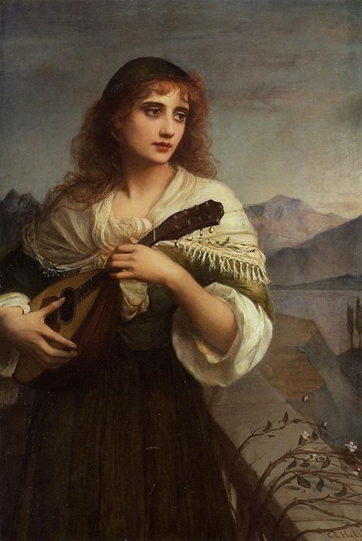 Charles Edward Halle (1846-1919) - Francesca and her lute