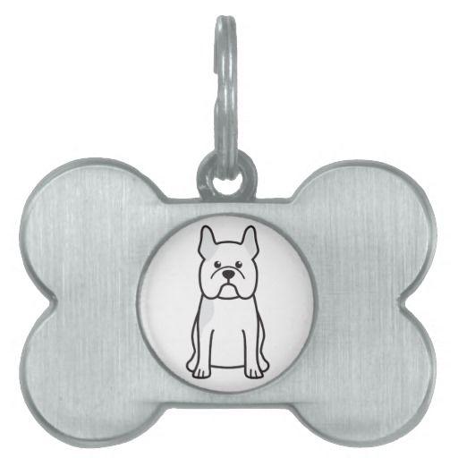 french bulldog dog breed cartoon tag pet name tags - Christmas Pet Names