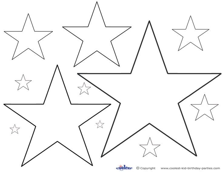 Star coloring pages Star stencil Star decorations