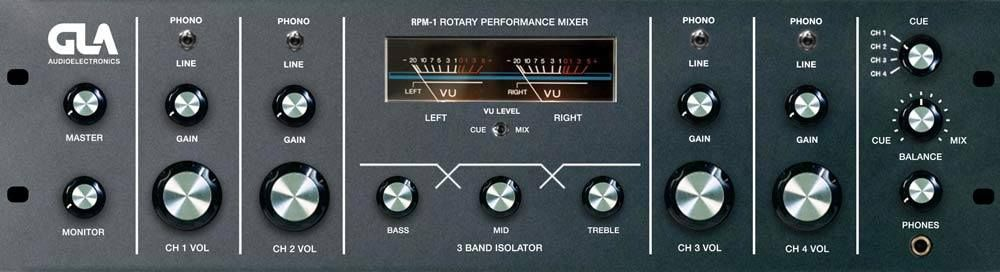 GLA Audio Electronics RPM-1 4 channel rotary mixer currently