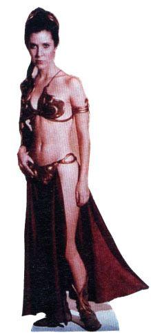 Princess Leia - Jabbau0027s Slave - Star Wars Lifesize Cardboard Cutout  sc 1 st  Pinterest & Princess Leia - Jabbau0027s Slave - Star Wars Lifesize Cardboard Cutout ...