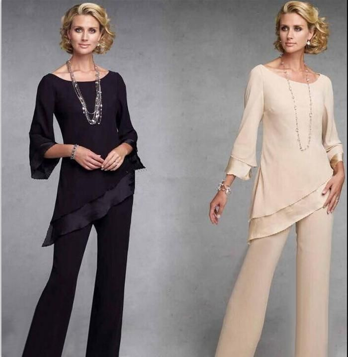 2016 New Cheap Plus Size Mother Of The Bride Pant Suits Three Quarter Chiffon For Wedding Women Elegant Evening Pant Suits Custom Made The Doctors Mom Mother Of The Bride Suit From Snowqueen98, $128.65| Dhgate.Com