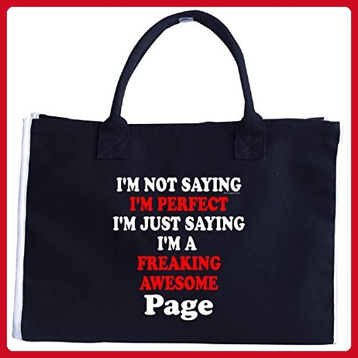 Im Perfect. The Best. Im A Freaking Awesome Page - Tote Bag - Totes (*Amazon Partner-Link)