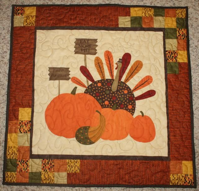 Katie Mae Quilts: Gobble Gobble Wall Hanging - Finished!