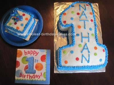 Homemade First Birthday Cake And Smash Cake With Images 1st