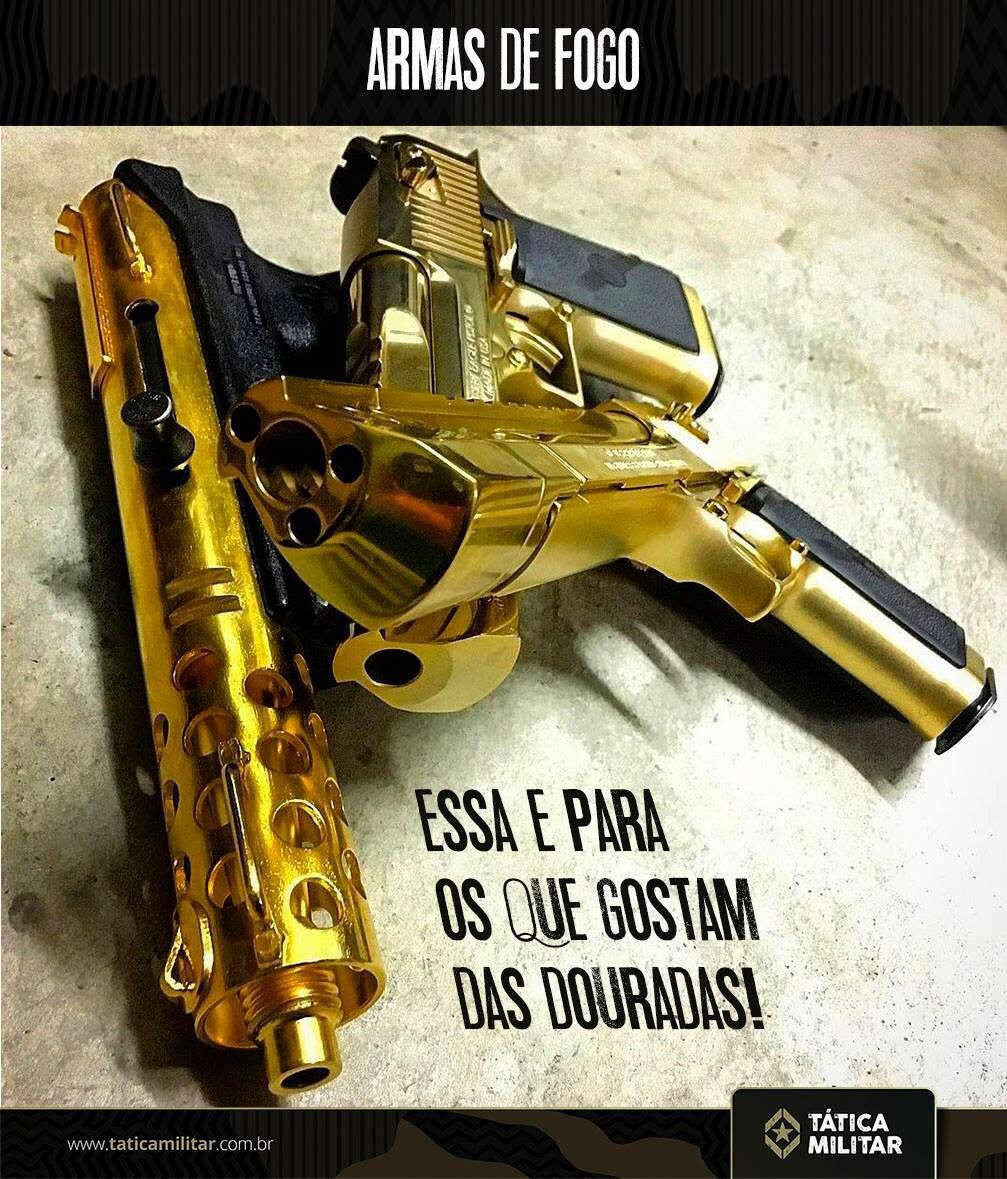 2 Desert Eagles And A Tec 9 In Gold PlatingLoading That Magazine Is Pain