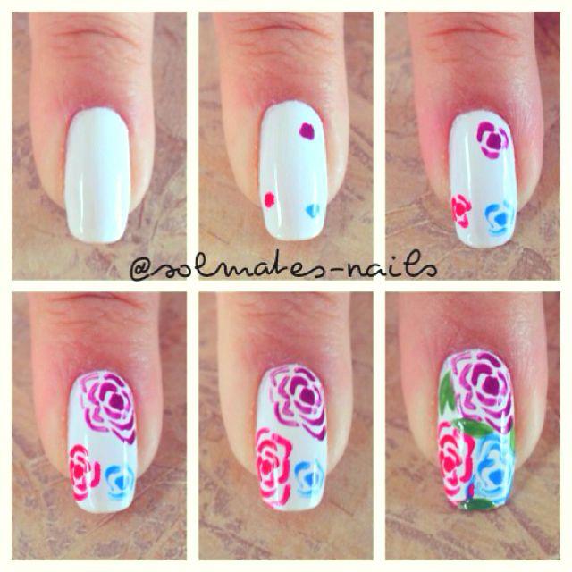 Cute Roses Nails Pinterest Rose Nail Envy And Nails Inspiration