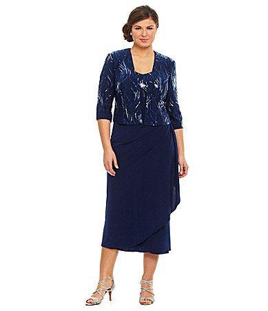Alex Evenings Woman Sequined Jacket Dress Dillards Dress Clothes