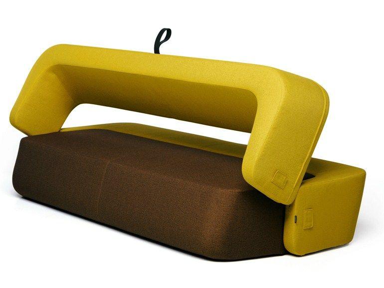 Divano letto imbottito in tessuto REVOLVE by prostoria Ltd | design ...