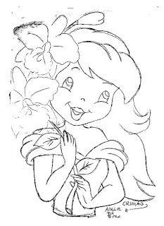 Desenho Para Pintar Boneca Moranguinho Para Colocar Saia De Croche