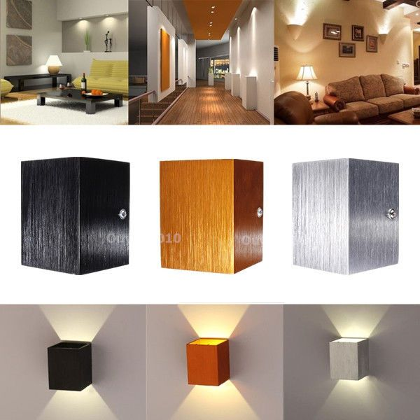 Perfect New Modern 3W LED Square Wall Lamp Hall Porch Walkway Living Room Light  Fixture