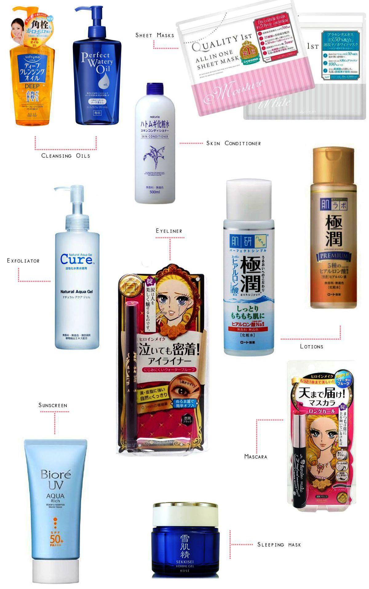 Korean Vs Japanese Skin Care Products Skincare Routine For Oily Acne Prone Skin Produtos Japoneses Cuidados Com O Corpo Rotina De Pele