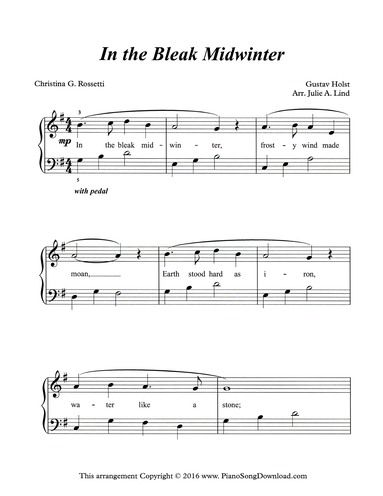 photo about Free Printable Christmas Sheet Music for Piano identify Inside of the Bleak Midwinter, no cost printable Xmas sheet new music