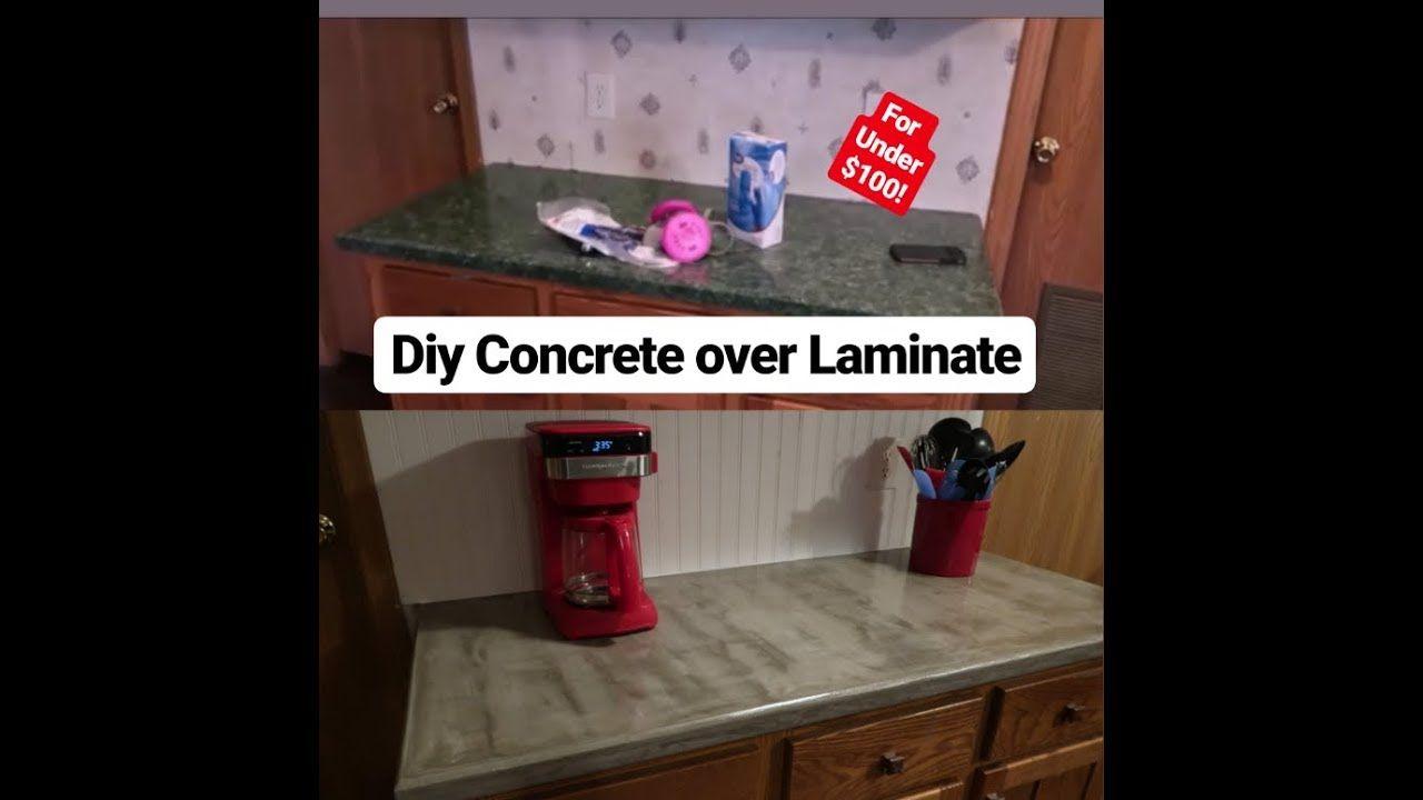 Diy Cheap Concrete Countertops Concrete Over Laminate Countertops