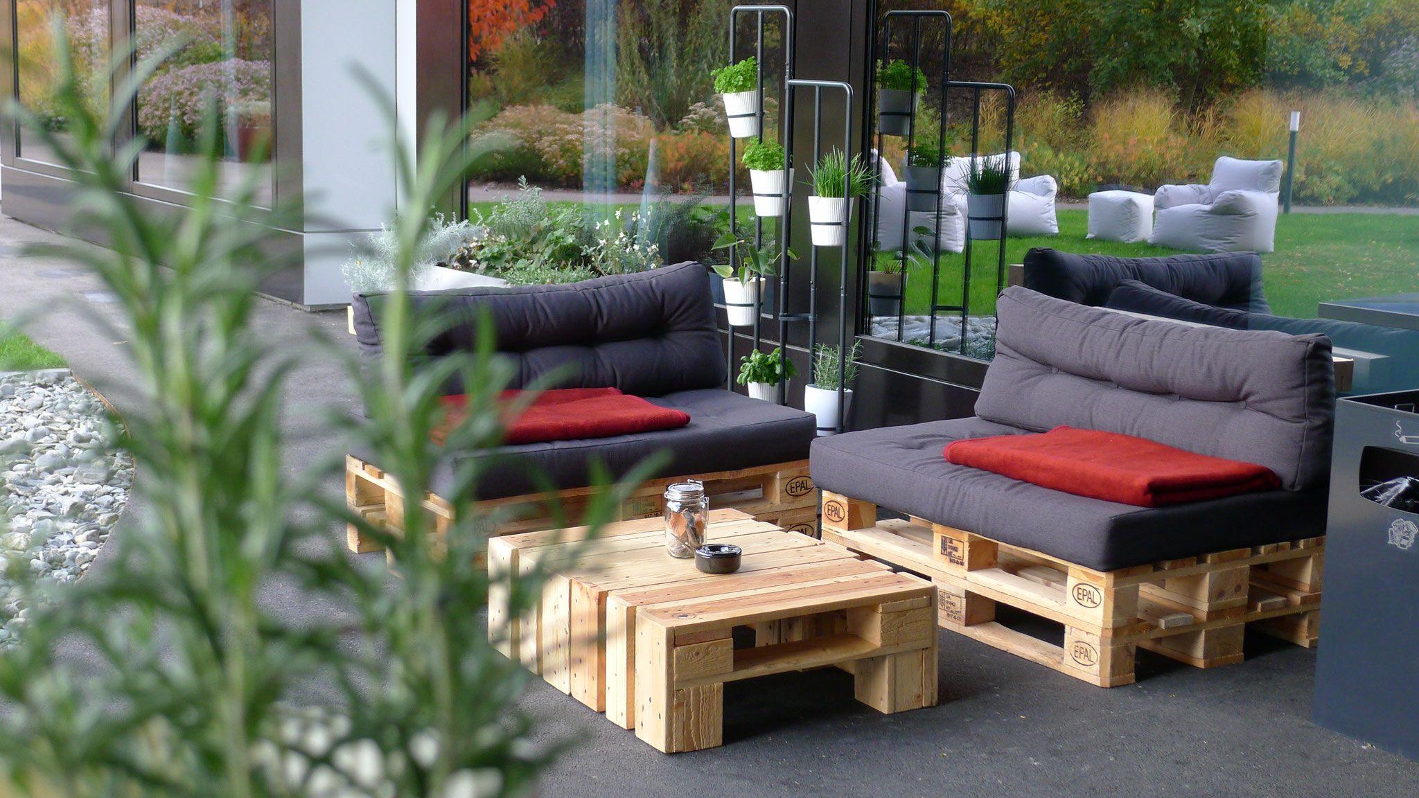 Palettenmöbel - Palettenliebe - Möbel aus Europaletten | Garten ...
