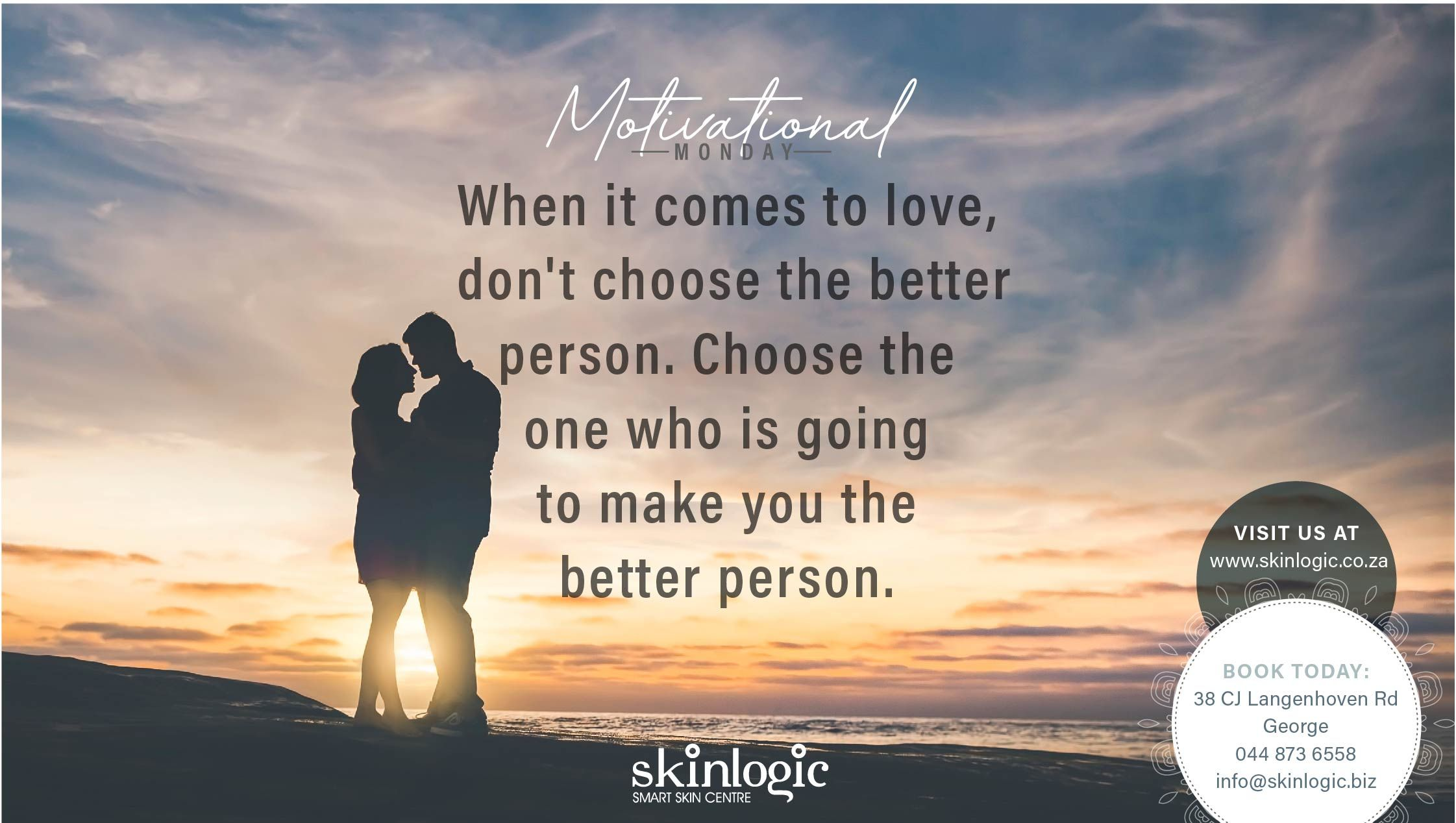 When it comes to love, don't choose the better person