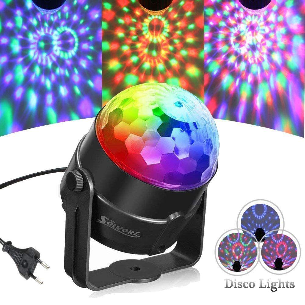 SOLMORE Discokugel Lichteffekte Partylicht RGB Dj Lampe Ball ...
