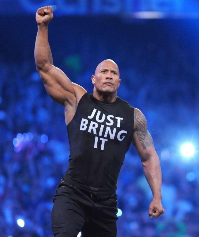 "Dwayne Johnson: ""The Rock"" zurück im Wrestling-Ring! Like the Rock says Don't sing it ..Just bring it !"