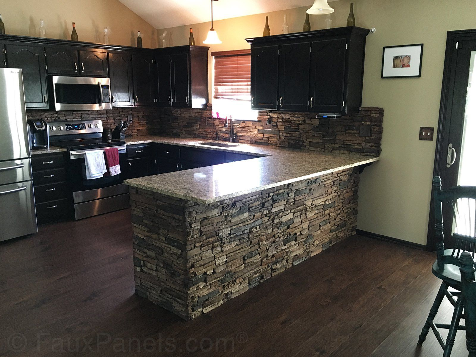 Granite Counter Tops Sierra Brown Stacked Stone Panels Our
