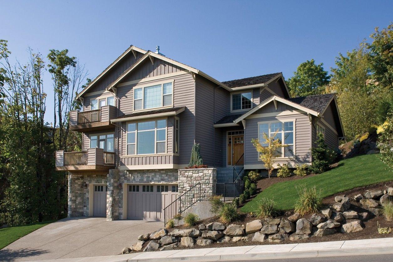 Plan 6953am Hillside Home Plan Sloping Lot House Plan Craftsman House Plans Hillside House