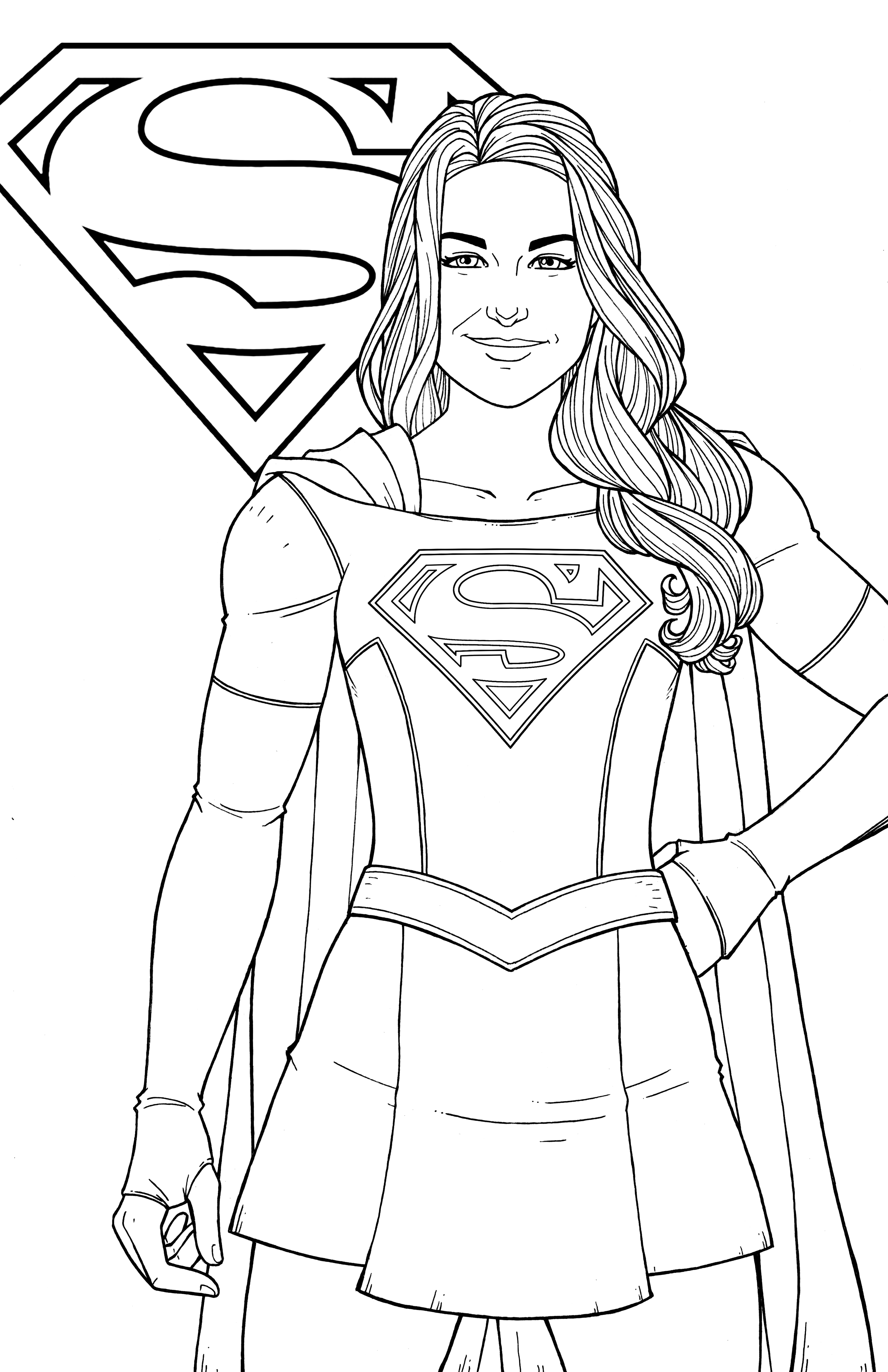 Supergirl - Melissa Benoist by JamieFayX | Coloring pages ...