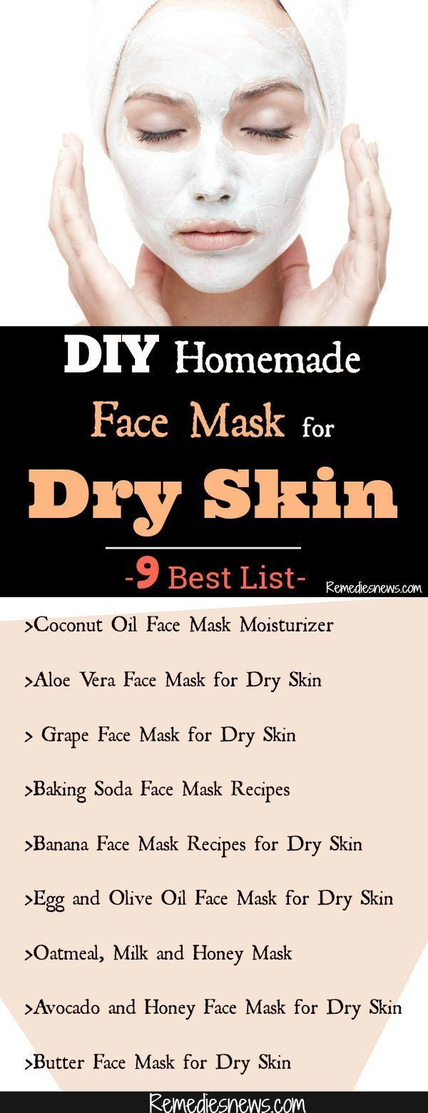 DIY Homemade Face Mask for Dry Skin- 9 Best List #homemadefacelotion