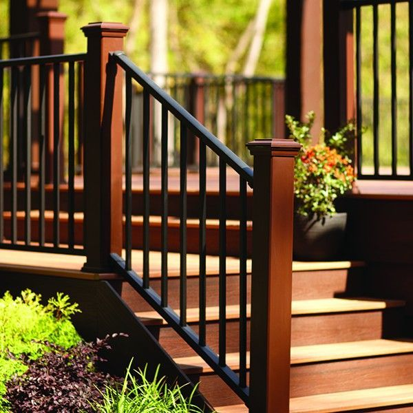 Safe Deck Railings Stairs: Signature Stair Rail & Baluster Kit By Trex #deckdesigns