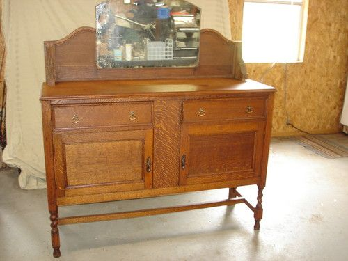 Antique Oak Buffet Sideboard Quartersawn Oak tag sale find $40 - Antique Oak Buffet Sideboard Quartersawn Oak Tag Sale Find $40