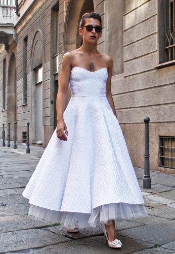 Vestiti Da Sposa Anni 50 60.Abito Da Sposa Corto Su Misura Anni 50 E 60 Con Tessuti Chic Made