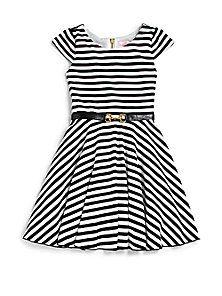 Zoe - Girl's Striped Skater Dress