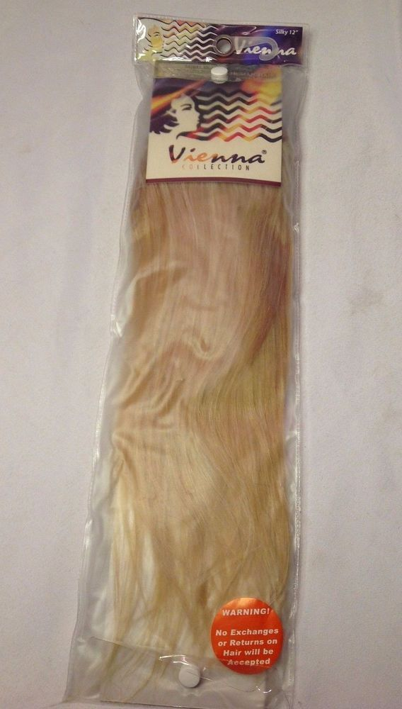 Vienna Silky Straight 12 Blonde Platinum Premium Human Hair