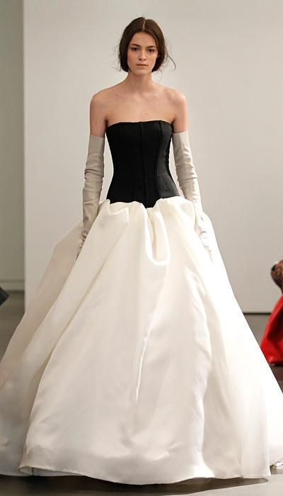 See Vera Wangs New Wedding Dress Collection 17 Black And White