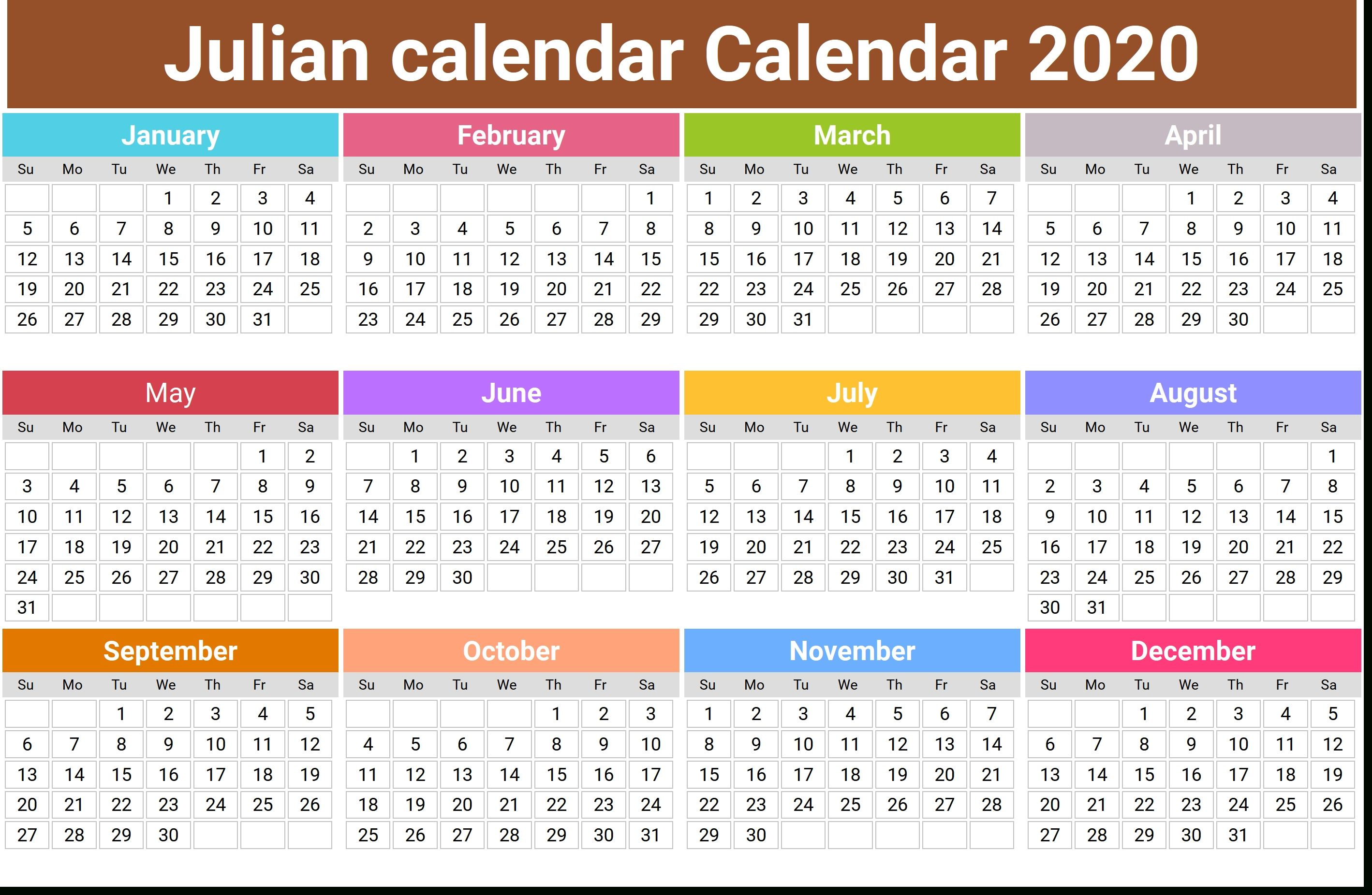 What Is The Julian Date Today in 2020 | Monthly calendar