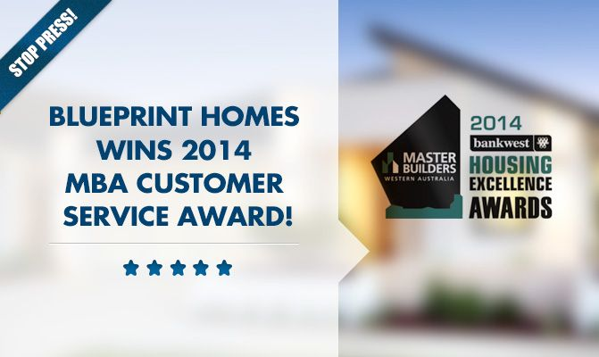 Blueprint Homes Wins 2014 MBA Customer Service Award!