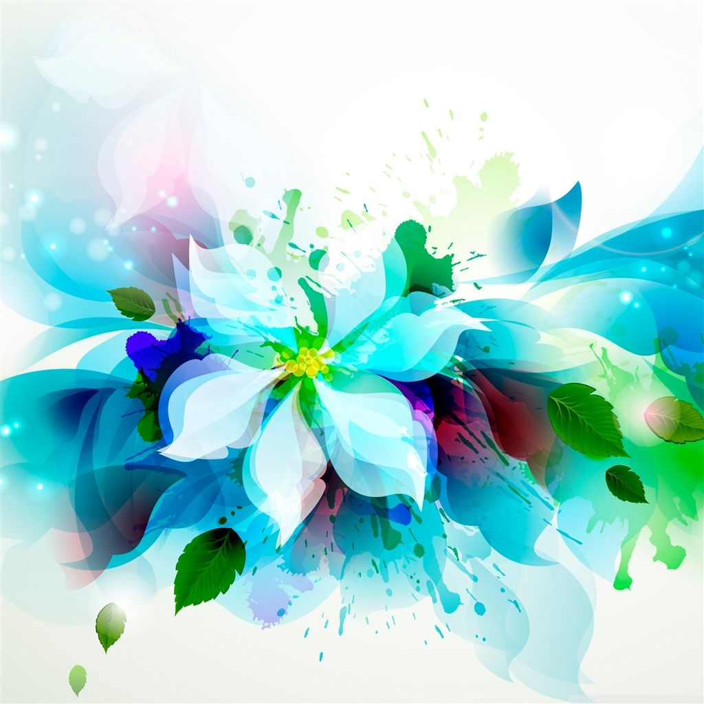 Abstract Flower iPad Air Wallpaper Download iPhone